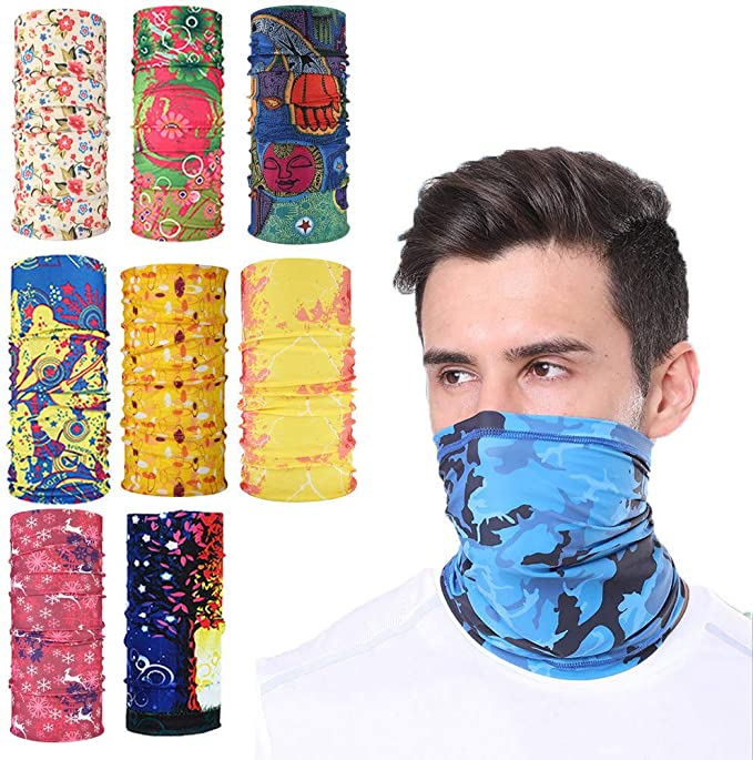 8PCS Face Mask Bandana 40%OFF