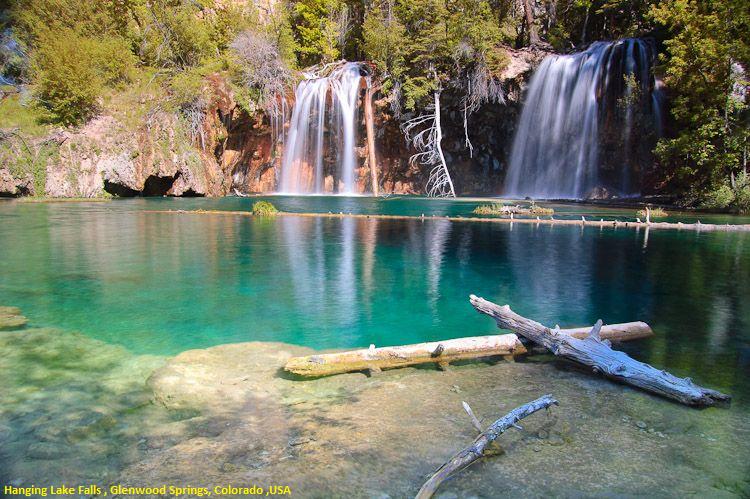 Hanging Lake Falls Colorado Usa