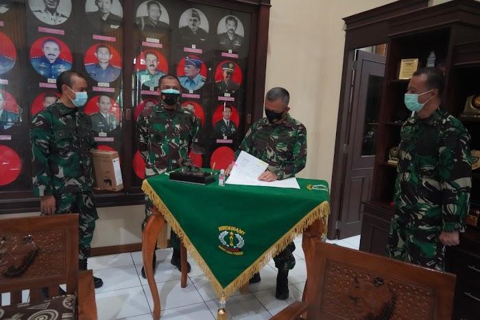 Korem 064/MY Terima Sarpras Pendukung Penerimaan Prajurit TNI dari Mabes TNI