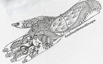 Peacock Snail Design for Backhand | Navratri Special