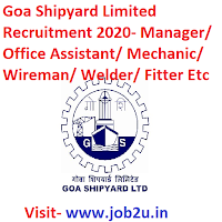 Goa Shipyard Limited Recruitment