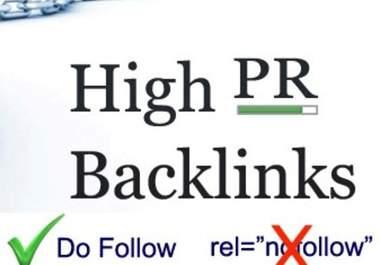 high pr  dofollow backlinks