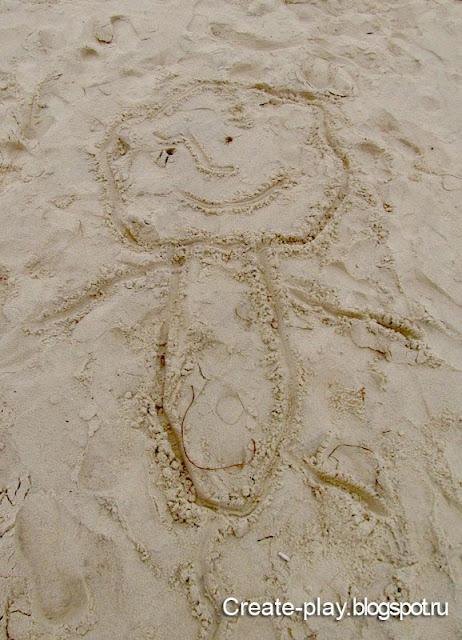 рисунок на песке Тунис