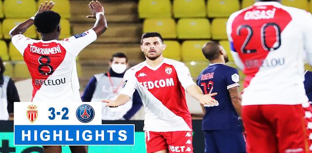 AS Monaco vs Paris Saint-Germain Highlights