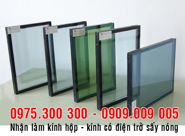 Nhận làm kính hộp 2 lớp 3 lớp, kính có điện trở sấy nóng, kính an toàn tại TP.HCM