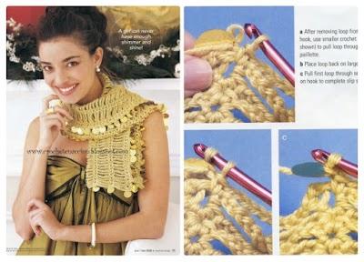 Chalina Crochet con Lentejuelas fin de año