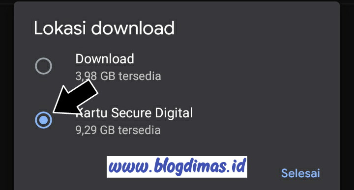 Cara Mengubah Lokasi Download