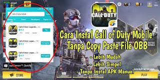 Cara Instal Game Call Of Duty Mobile Tanpa Copy Paste File OBB