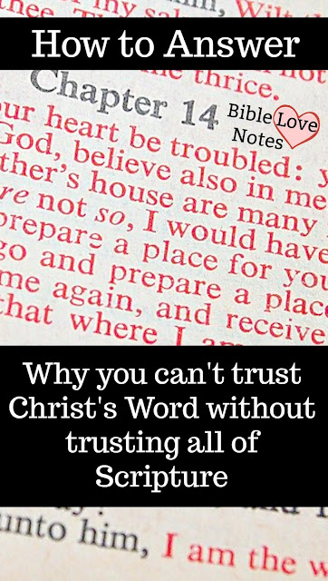 Have you ever had someone say they only believe the words of Christ, not the rest of Scripture? That is perhaps the most illogical statement on the planet. This 1-minute devotion explains. #BibleLoveNotes #Bible