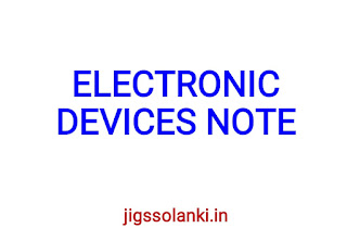 ELECTRONIC DEVICES NOTE