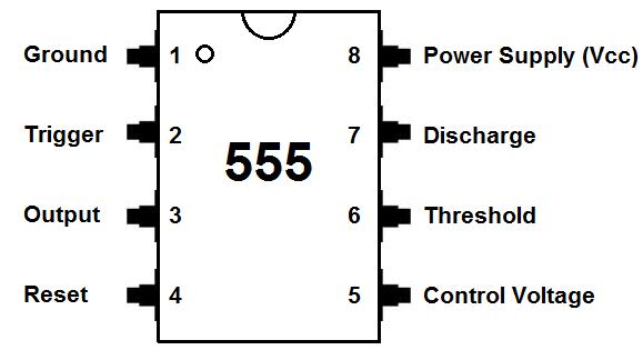 555 Timer Pinout