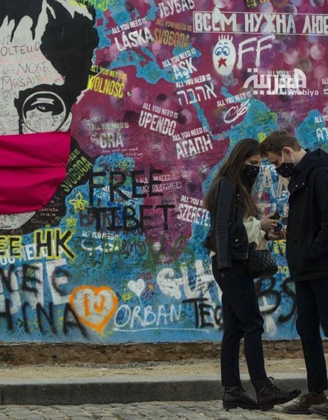 رسوم الفن ( الجرافيتي ) يحاكي جائحة كورونا حول العالم