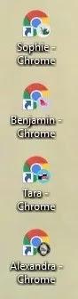 كيفية إنشاء ملفات تعريف مستخدم جديدة Firefox Chrome أيقونات ملفات تعريف مختلفة لسطح المكتب