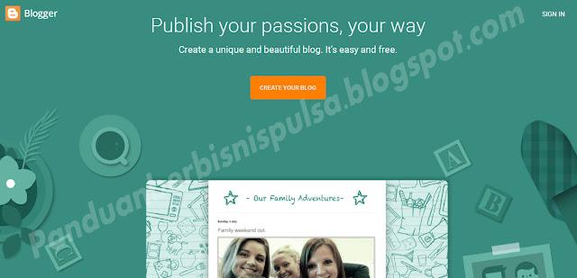 Cara Membuat Blog Untuk Promosi  Bisnis Pulsa Gratis 1