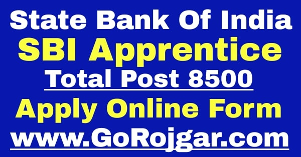 SBI Apprentices Recruitment 2020 for 8500 Posts Notification Apply Online form