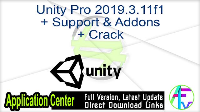 Unity Pro 2019.3.11f1 + Support & Addons + Crack