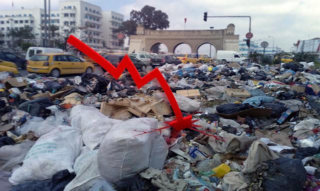تراجع النمو الاقتصادي في تونس إلى 1 %