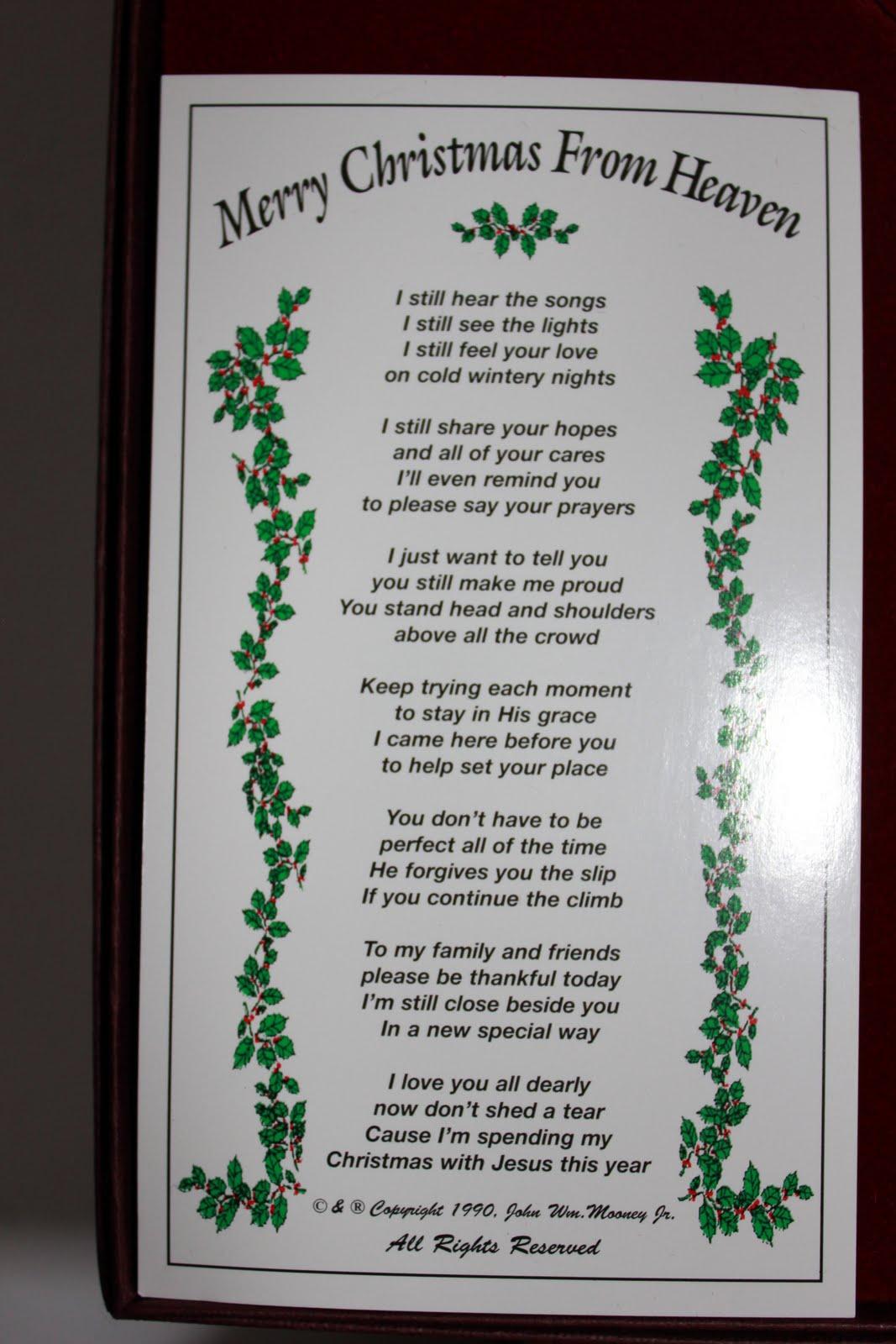 Christmas From Heaven.Living The Good Life In Grandmaville Merry Christmas From