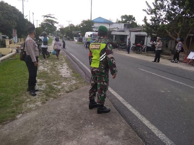 Dimanapun Berada, Personel Jajaran Kodim 0207/Simalungun Tetap Berikan Himbauan Disiplin Protokol Kesehatan