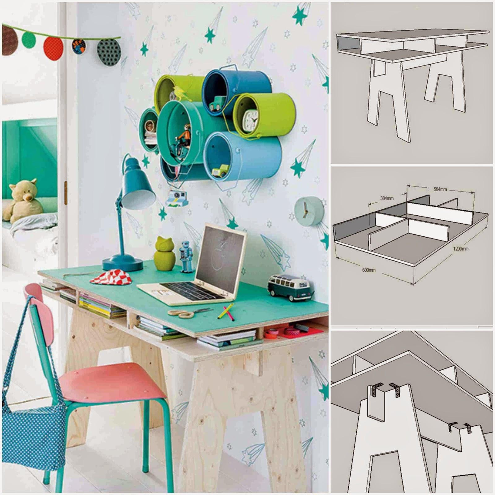 Diy Cool Kids Desk From Plywood Diy Fun World