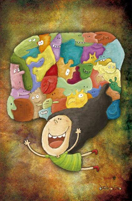 """""""ilustración-niña imaginación-ana sáez del arco-illustration-imagination"""""""