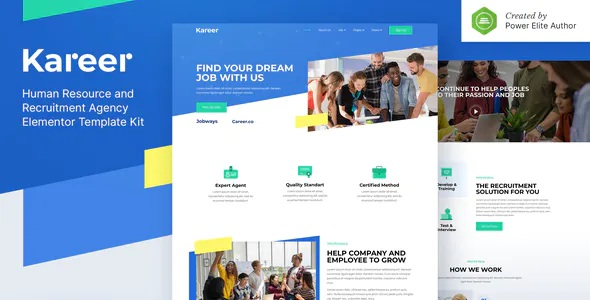 Best Human Resource & Recruitment Agency Elementor Template Kit