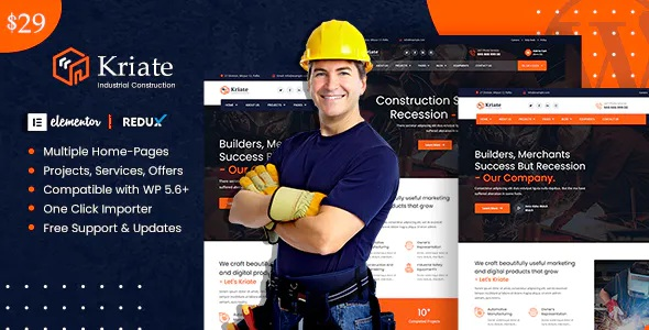 Best Industrial Construction Multipurpose WordPress Theme