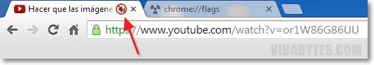 Pestaña silencio Chrome