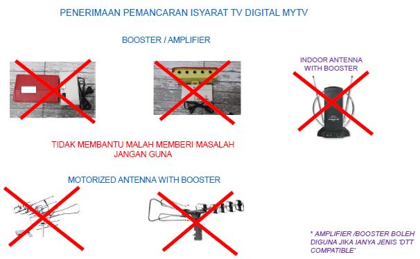 antena tak boleh guna untuk mytv