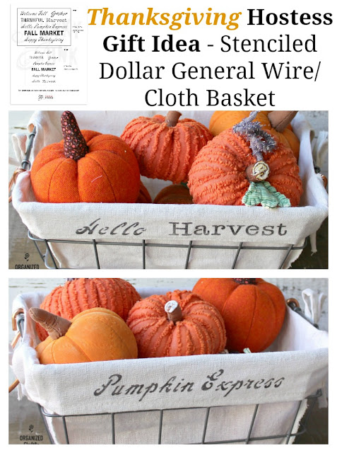 Thankgiving Hostess & Christmas Gift Ideas With Old Sign Stencils & Dollar General #oldsignstencils #dollargeneral
