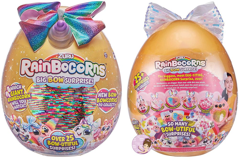 What's Inside Rainbocorns Big Bow Surprise mystery egg toy
