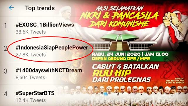 #IndonesiaSiapPeoplePower Bergelora, Aksi Selamatkan Pancasila dari Komunisme Siap Digelar