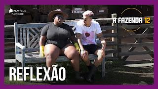 A Fazenda 12 – Peões falam sobre a eliminação de Mirella – Tays faz desabafo sobre Biel à Jakelyne