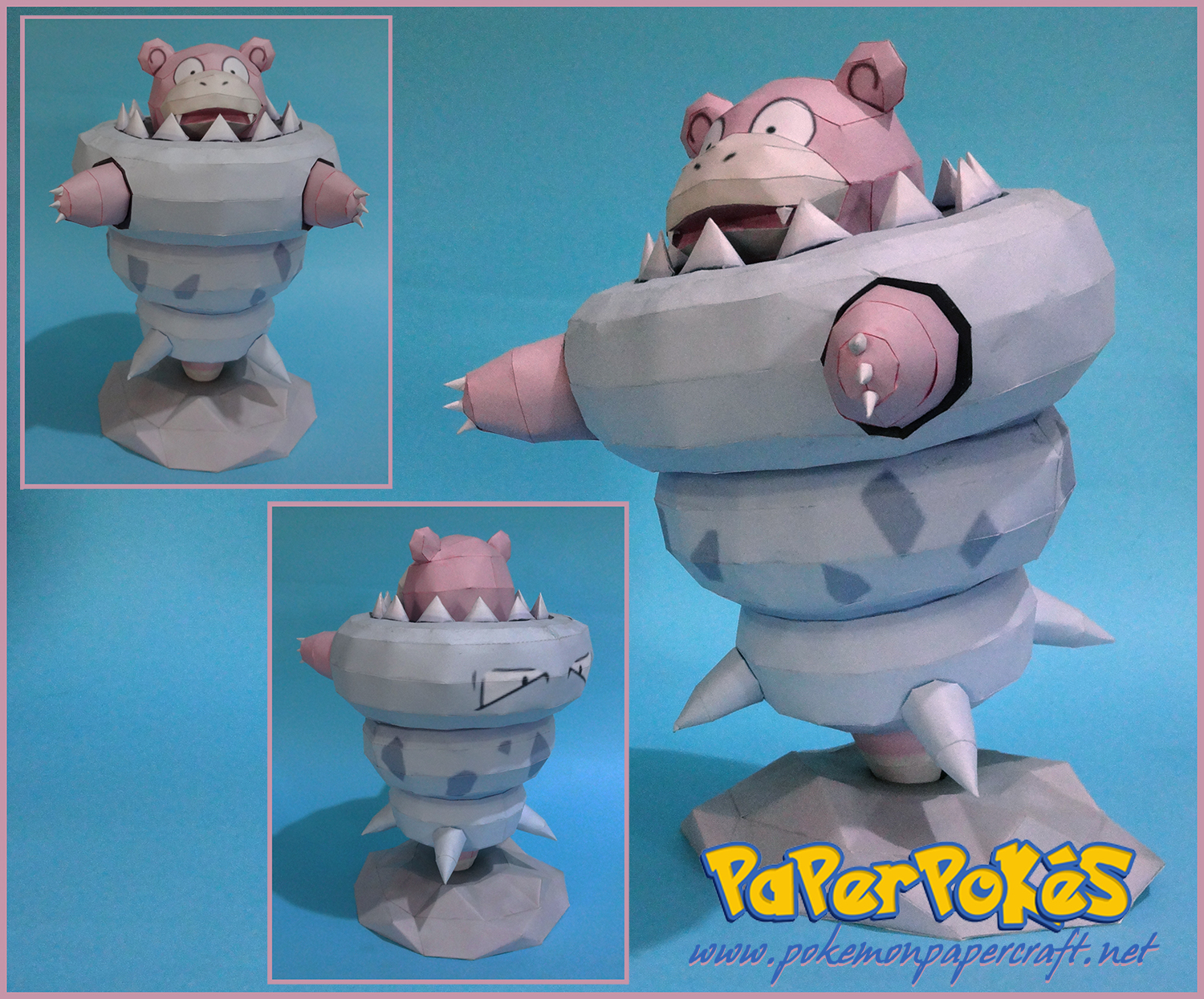 080 Mega Slowbro Pokémon Papercraft Name Type Water Psychic Species Hermit Crab Height 2 0 M 6 07
