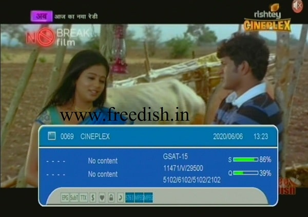 rishtey Cineplex Channel re-launched on DD Free dish  Ch.38