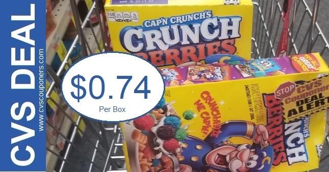 Cap'N Crunch Cereal Under $1 at CVS