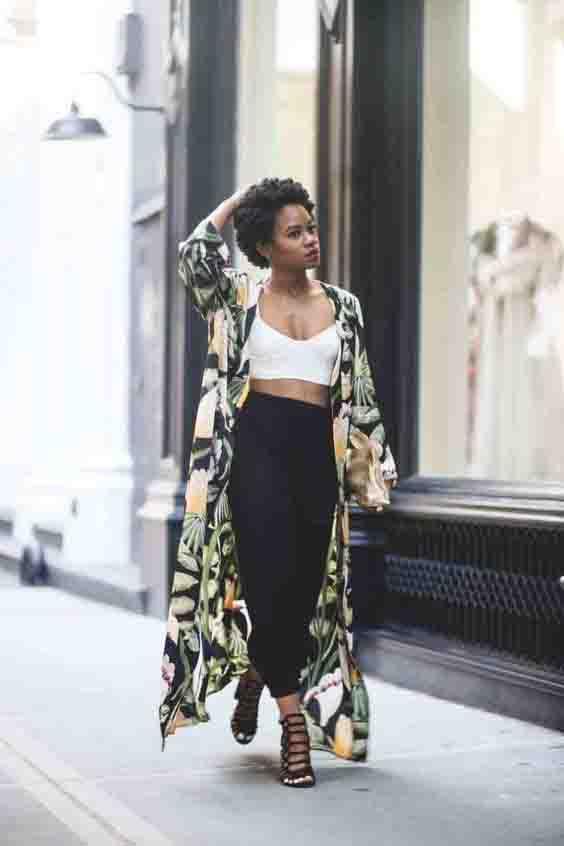 Kimono e calça jogger