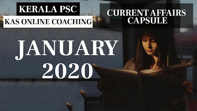 Current Affairs Capsule January 2020