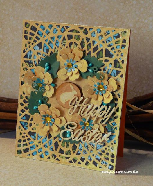 Kartki Wielkanocne z jednego papieru.