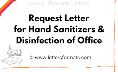 Draft Request Letter for Hand Sanitizers