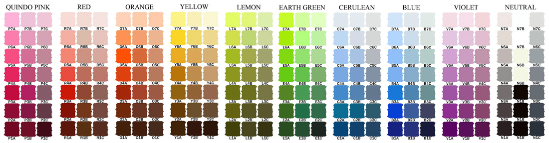 Here Is The Blue Earth Colour Chart Before Expansion Of Range For Updated See Website