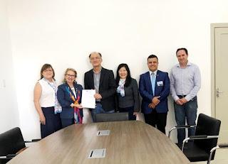 Prefeito Nilton Hirota recepciona governadora do Rotary Internacional