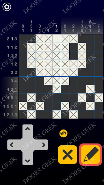 Picross Galaxy Level 2 Solution, Cheats, Walkthrough