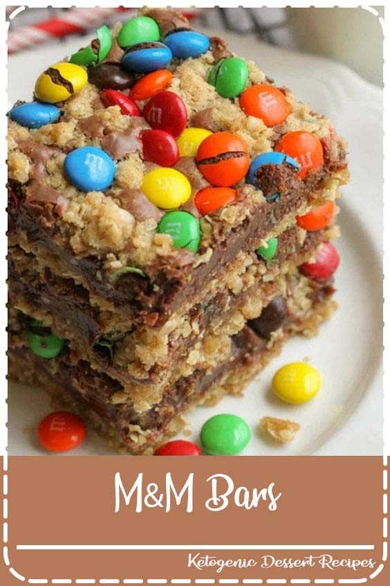 M Chocolate Oat bars have layers of oats M&M Bars