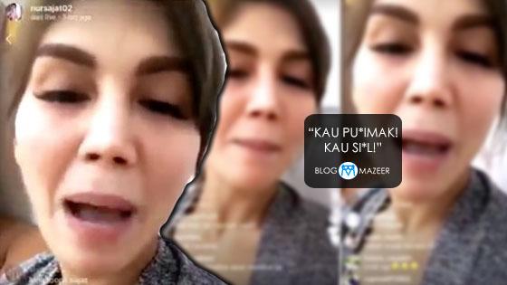 Nur Sajat Mengamuk Maki Netizen Kaw-Kaw Selepas Digelar Pondan