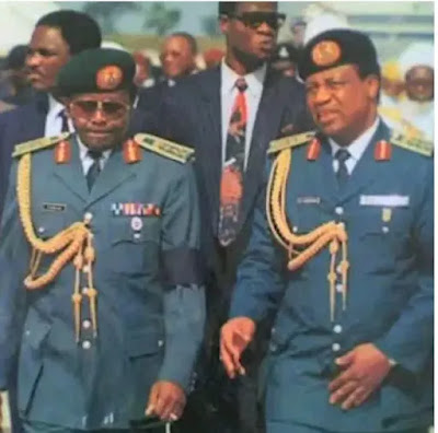 Throwback Photos of General Babangida With Sani Abacha During Military Rule