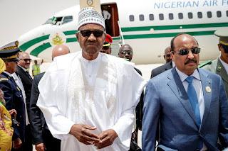 Buhari arrives in Mauritania