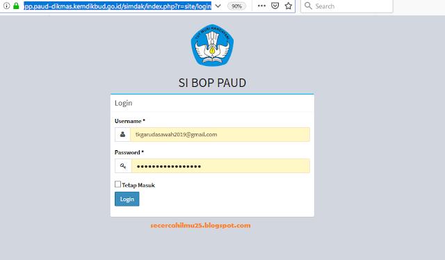Panduan Aplikasi Lapor Dana BOP PAUD 2019