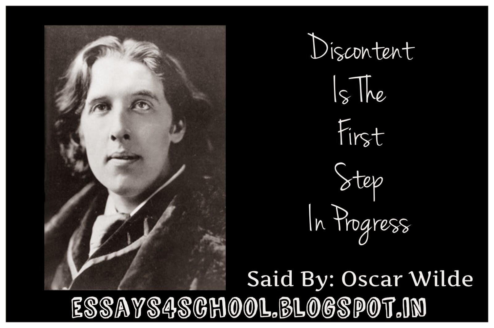 oscar wilde essay oscar wilde essay the decay of lying best images  essay on discontent is the first step in progress essays school essay on discontent is the oscar wilde writer com