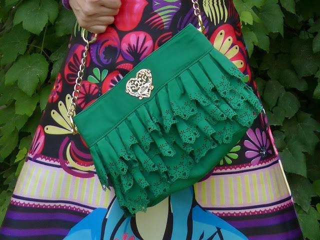 Moschino green bag